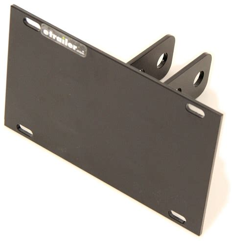 front mount trailer hitch license plate relocation bracket