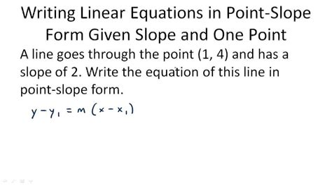 write an equation given the slope and a point algebra ck 12 foundation