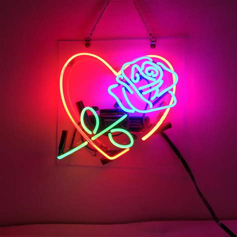 new love rose sweet bar pub wall decor acrylic neon light