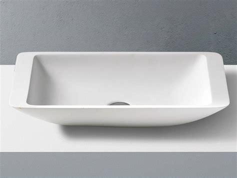 lavabo bagno corian lavabo da appoggio rettangolare in corian solid surface