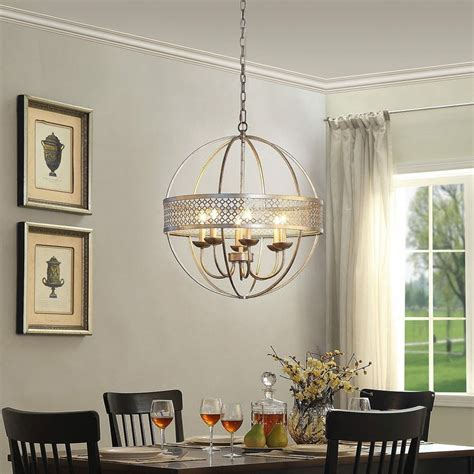Globe Chandelier Lighting by Modern Chandelier Globe 6 Light Metal Ceiling Fixture