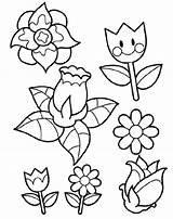 Spring Pages Flower Coloring Flowers Printable Colouring Pegboard Sheets Duathlongijon Template Children Popular Templates Adult sketch template