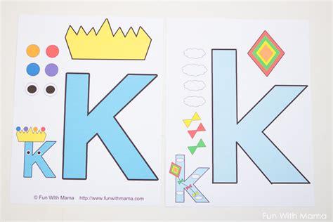 letter k crafts letter k worksheets with