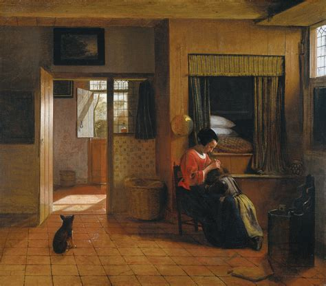 Interior With A Mother Delousing Her Child, C1660