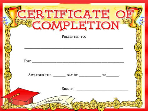 certificates of completion for kids search results for kids award certificate free printable