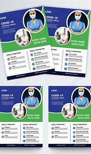 Modern corona virus flyer template image_picture free ...