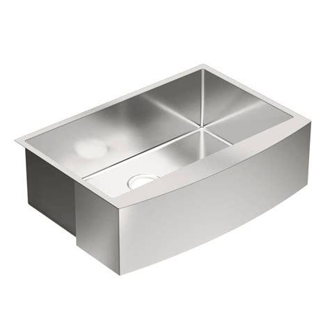moen apron front sink moen 1800 series apron front stainless steel 30 in single