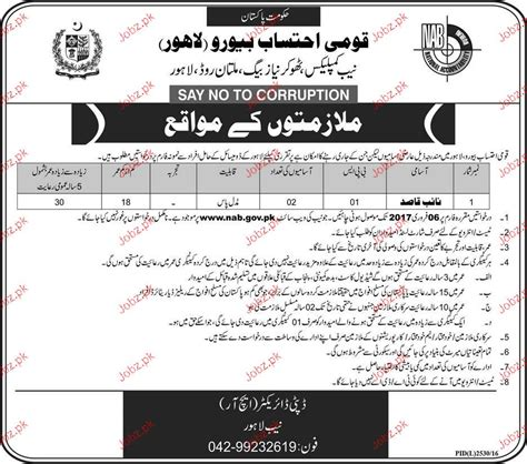 position bureau naib qasid in national accountability bureau 2018