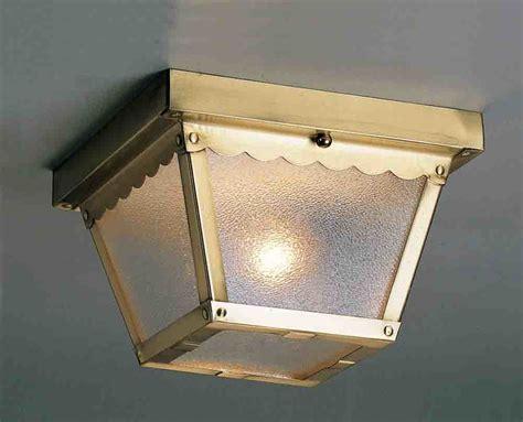 outdoor flush mount ceiling light fixtures volume lighting v7231 1 antique brass 1 light flush mount