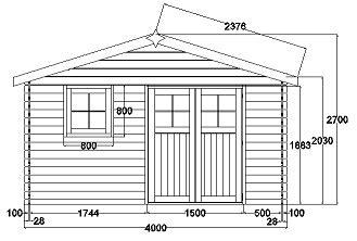 plan cabane de jardin cabane de jardin