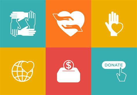 Vector Donation Icon Set Download Free Vectors Clipart