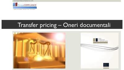 Transfer Pricing Interno Transfer Pricing Oneri Documentali Portalecompliance