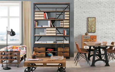 librerie vendita librerie stile industriale prezzi on line legno ferro