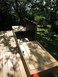 Coffre De Terrasse : int grer un coffre de rangement dans sa terrasse en bois deck wood happax maison en 2019 ~ Melissatoandfro.com Idées de Décoration