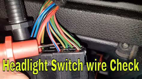 how to check headlight switch wires ford mondeo mk3 st220
