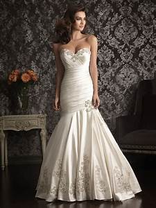 mermaid sweetheart satin ruched wedding dress with With ruched mermaid wedding dress