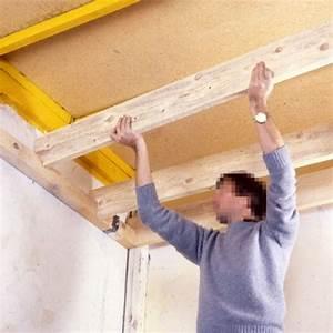 Faire Un Faux Plafond : faire un faux plafond en bois maison travaux ~ Premium-room.com Idées de Décoration