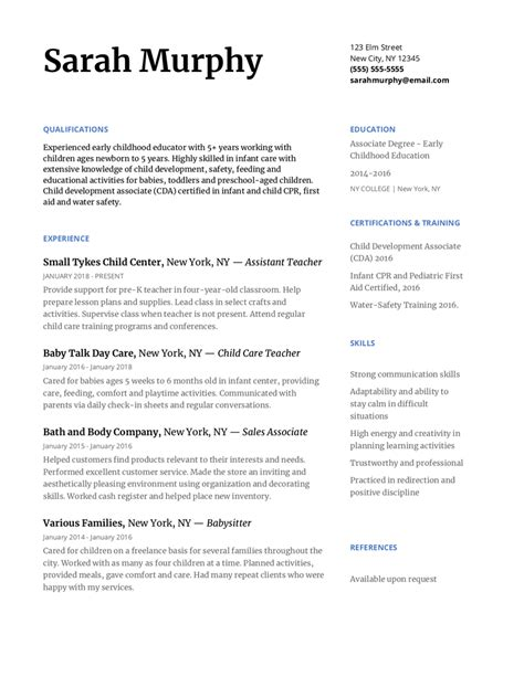Child Care Resume Skills by How To Write A Day Care Resume To Impress Any Director