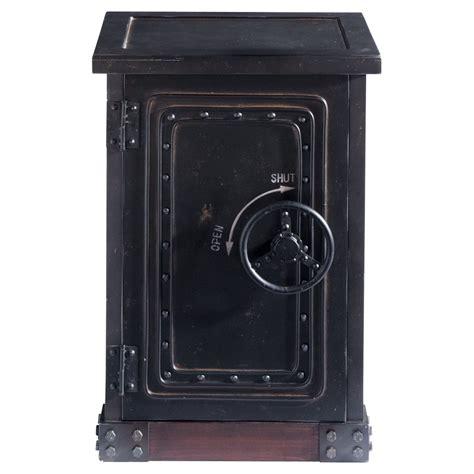 coffre fort en bois cabinet de rangement coffre fort en bois noir effet