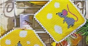 Interesting ideas for decor: Crochet potholder Вяжем