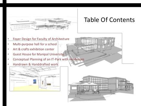 11439 architecture portfolio table of contents b arch course portfolio