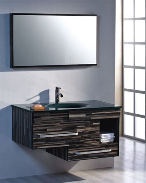 modern floating bathroom vanity set  mirror