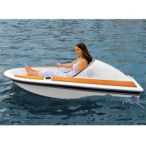 Single Person Fishing Boat by The One Person Electric Watercraft Hammacher Schlemmer