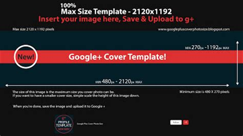 Google Cover Photo Size by Free Template Downloads For Google Plus New Cover Photo
