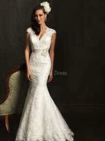 lace wedding dresses with cap sleeves lace mermaid wedding dress with sleeves sang maestro