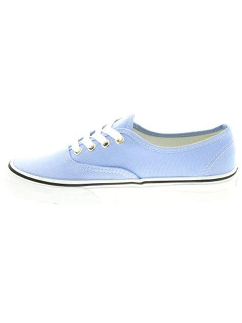 light blue vans vans authentic sneaker in light blue