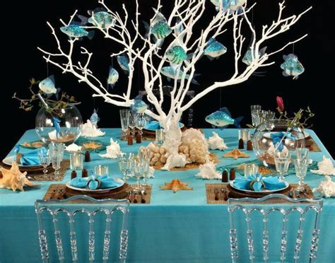 underwater themed table settings google search beach
