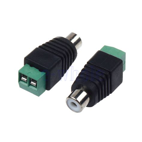 Harga Rca Cable pair speaker wire cable to rca connector
