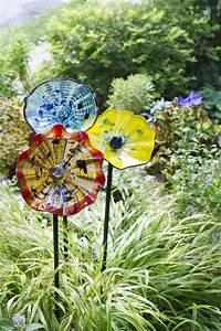 Art Glass Flower Garden Art Stakes Gardener's Supply