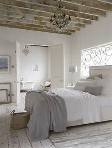 20 formas de decorar un dormitorio en blanco blog With beautiful mur couleur lin et gris 17 deco style maison de campagne nature scandinave et