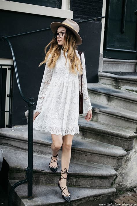 navy blue casual dress how to wear a lace dress this is how it 39 s done just