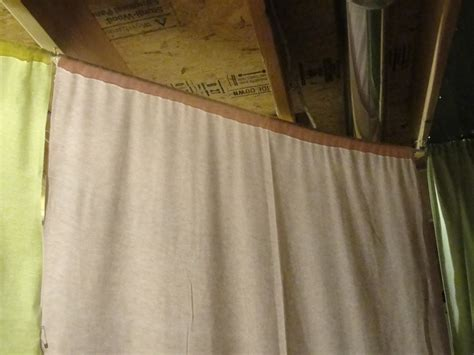 To Make A Covering Unfinished Basement Walls With Fabric