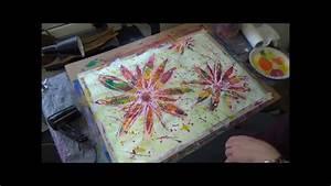 acrylmalerei techniken bunte blüten
