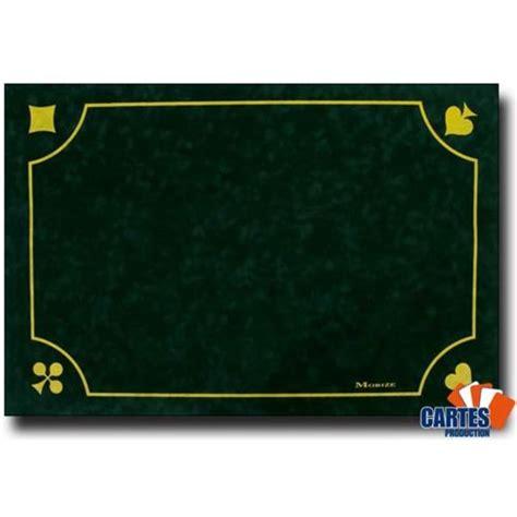 tapis de cartes a jouer production tapis morize belote vert 60x40 pas cher achat vente jeux de cartes