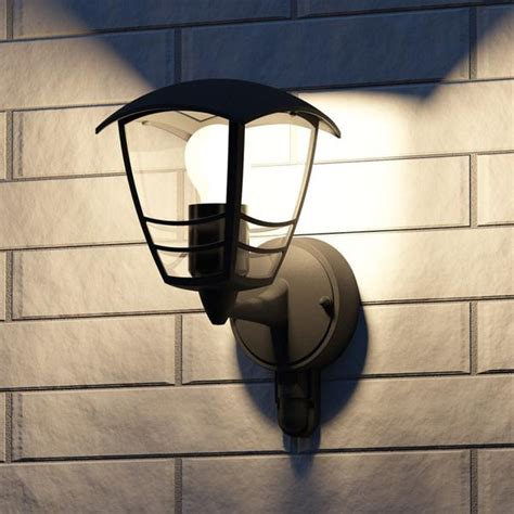 philips 15388 30 16 creek black outdoor up lantern wall