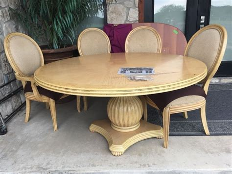round dining table set for 4 round 60 quot dining table and 4 chairs ebay