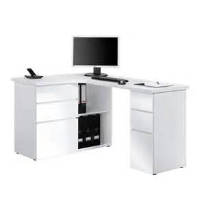 maja oxford white corner laptop computer desk 9543