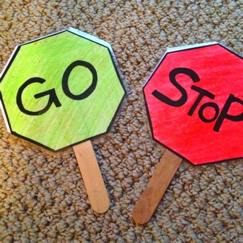 stop   signs preschool transportation crafts fun activities  preschoolers art