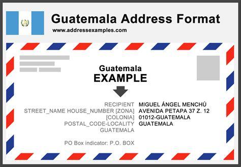 guatemala address format addressexamplescom