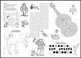 Menu Restaurant Covers Coloring Children Border Southwest Menus Placemats Microsoft Word sketch template