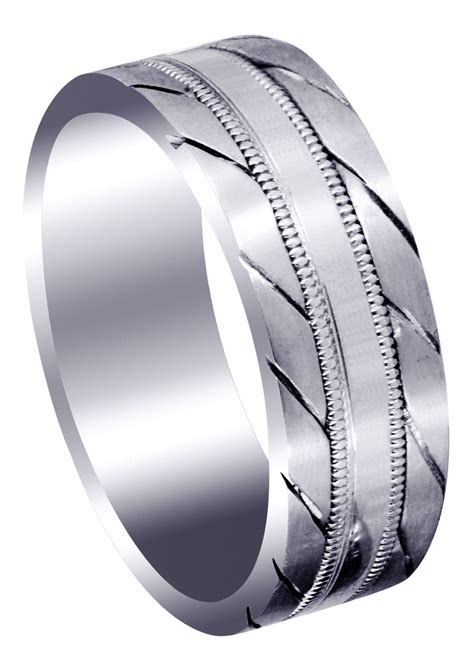 woven mens wedding band satin finish avery frostnyc