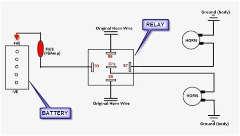 great wiring diagram  horn relay horn relay simple