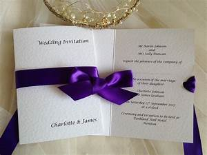 Wrap ribbon wedding invitations wedding invites for Wedding invitations with photo and ribbon
