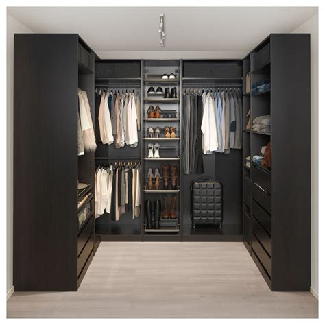 Pax Wardrobe by Corner Wardrobe Pax Black Brown En 2019 Closet Armario
