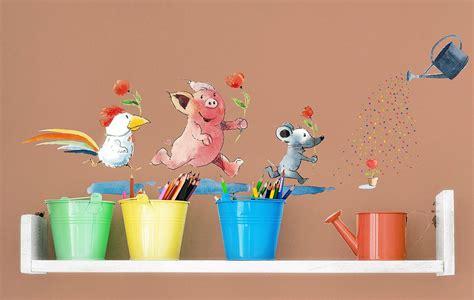 Wandtattoo Kinderzimmer Helme Heine by Wandtattoo Helme Heine Freunde Blumen Gie 223 En
