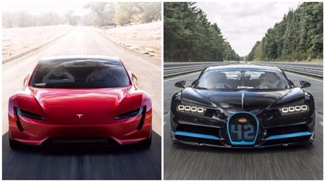 The only production car comparable to roadster is the bugatti chiron. Tesla Roadster VS Bugatti Chiron |Comparison| 0-60 Times, Pricing & MORE - YouTube